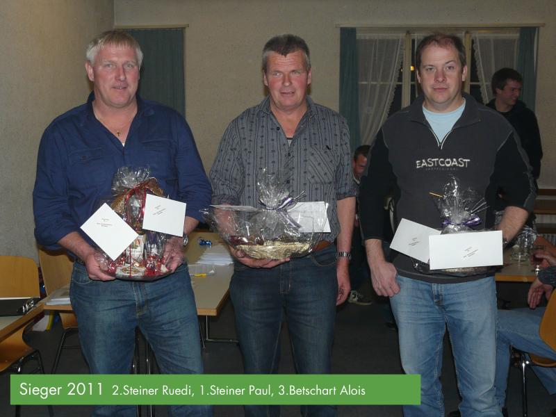 Preismeisterschaft mit offener  Ansage 2011